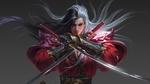 Обои Длинноволосый парень - воин с катанами в руках, by Yang Chen