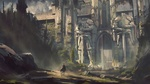 Обои Всадник перед воротами заброшенной каменной крепости из игры Dragons Curse of Stand, by Dungeons