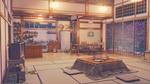 Обои Интерьер безлюдной комнаты с котацу в японском доме из игры Любовь, Деньги, Рок-н-Ролл / Love Money RocknRoll, автор Arsenixc