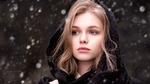 Обои Модель Саша под снегопадом, by iCONA pICTURA