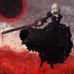 Обои Saber Alter / Dark Saber / Сейбер Альтер из визуальной новеллы и аниме Fate / stay night
