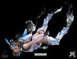 Обои Девушка в футуристическом костюме плывет под водой, by A-ROUND