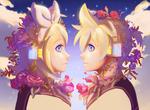 Обои Vocaloid Len, Rin Kagamine / Вокалоид Лен, Рин Кагамине, by My-Magic-Dream