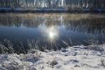 Обои Отражение на воде, река Дунай / Danube, зима, by Lichtmagnet