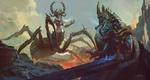 Обои The Lich King / Король Лич и королева пауков из игры World of Warcraft / Мир военного ремесла, by Song Nan Li