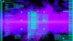 Обои Программная абстракция на фоне сине фиолетового дыма