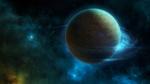 Обои Движение планеты в космосе