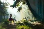 Обои Девушка и парень на фоне природы, by My-Magic-Dream
