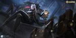 Обои Девушка-маг сидит на престоле, положив ладонь на магический шар, из игры Honor of Kings / Честь Королей, by exia xiaotong