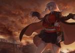 Обои Раненная девушка в военной форме персонаж из аниме Fate Grand Order / Судьба Великий приказ
