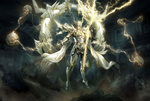 Обои Повелительница молний из игры Era of angels / Эра ангелов, by WenJie Ge