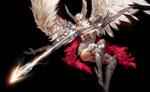 Обои Ангел-воительница с небесным луком из игры Era of angels / Эра ангелов, by WenJie Ge