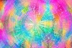 Обои Радужная абстракция в виде круга и лучей