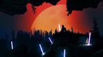 Обои Неоновая абстракция кадра из кино фильма Параллельные миры