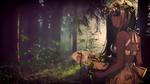 Обои Девушка с шляпкой на природе, by ATNDesign