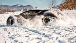 Обои Тестовый спорт кар Bugatti Chiron резвиться на снегу в австрийской коммуне Альтенмаркт-им-Понгау