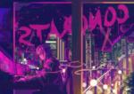 Обои Девушка на фоне ночного города курит сигарету, by Pixiv Id 13167207