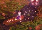 Обои Vocaloid Xingchen / Вокалоид Ксинг Чен (Stardust) плывет в лодке по реке