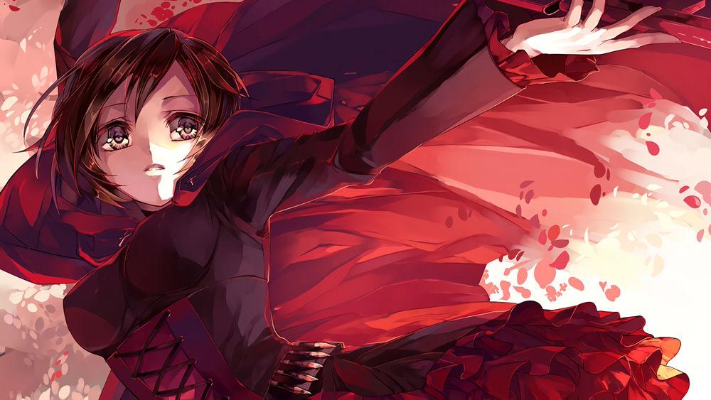 Картинки парней из аниме красный белый черный желтый