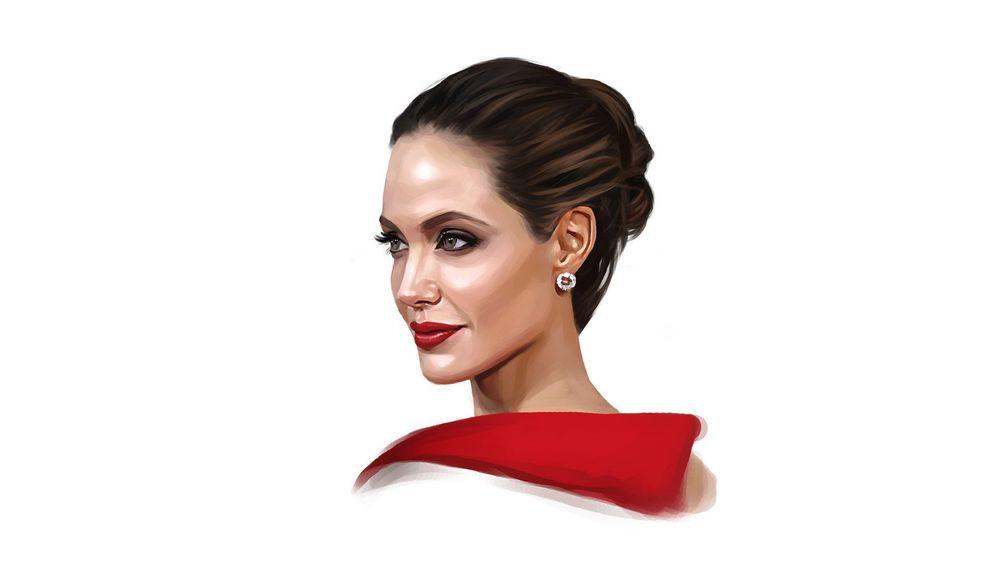 Обои для рабочего стола Портрет Анджелины Джоли / Angelina Jolie