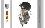 Обои Levi / Леви из аниме Shingeki no Kyojin / Вторжение гигантов
