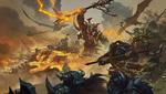 Обои Орда орков с огненными тиграми идет в атаку, by Bayard Wu