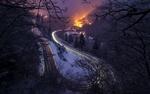 Обои Извилистая зимняя дорога