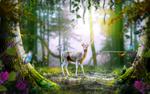 Обои Олень в весеннем лесу, by mumu0909