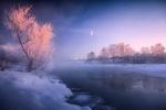 Обои Река Клязьма декабрьским утром, фотограф Нeger / Роман