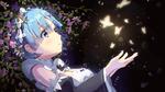 Обои Rem / Рем смотрит на светящихся во тьме бабочек аниме Re: Zero kara Hajimeru Isekai Seikatsu / Re: Жизнь в альтернативном мире с нуля