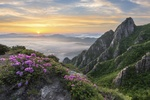 Обои Spring in the valley of Wolchulsan National Park, South Korea / Весна в долине национального парка Wolchulsan, Южная Корея, фотограф Jaeyoun Ryu