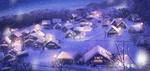 Обои Зимняя деревня ночью, by sachiko15