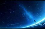 Обои Девушка смотрит на млечный путь в ночном небе