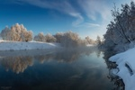 Обои Зимнем днем на реке Истра, фотограф Николай Сапронов