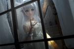 Обои Девушка - кукла за окном