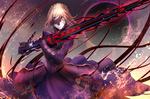 Обои Saber Alter / Dark Saber / Сэйбер Альтер из визуальной новеллы Fate: Stay Night / Судьба: Ночь Схватки