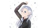 Обои Victor Nikiforof / Виктор Никифороф с длинными волосами из аниме Юрий на льду! / Yuri on Ice!
