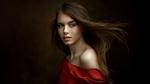 Обои Модель Вика в красном платье, by Andrey Metelkov