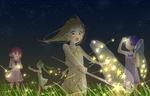 Обои Девочки ловят звезды