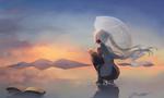 Обои Vocaloid Hatsune Miku / Вокалоид Хатсунэ Мику, by saihate