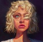 Обои Белокурая девушка, by Mandy Jurgens