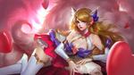 Обои Star Guardian Ahri / Звезда Хранитель Ари арт персонажа из игры League of Legends / Лига Легенд