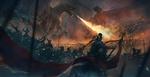 Обои Эпическая битва добра и зла между воинами и дракона с грифоном, by Sina Hayati