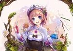 Обои Rororina Friwell держит колбу и пробирку с магическим эликсиром, из игры Atelier Rorona, by Mel Kishida