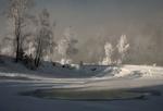 Обои Холодный зимний рассвет, фотограф Марина Фомина