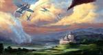 Обои Фантастические замки и воздушные бои самолетов, by Ranarh