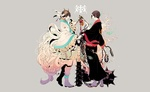 Обои Hakutaku / Хакутаку и Хозуки / Hoozuki смотрят друг на друга из аниме Хладнокровный Хозуки / Hoozuki no Reitetsu