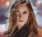 Обои Портрет красивой девушки с длинными волосами, by Lee Yong Hyun