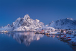 Обои Зимнее утро в бухте Рейне, Lofoten Islands, Norway / Лофотенские острова, Норвегия, фотограф Dmitry Kupratsevich