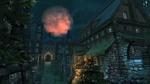 Обои Кровавая луна в ночном небе над средневековым городом